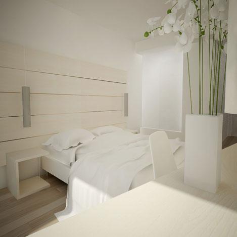 decoración equipamiento muebles a medida habitación hotel